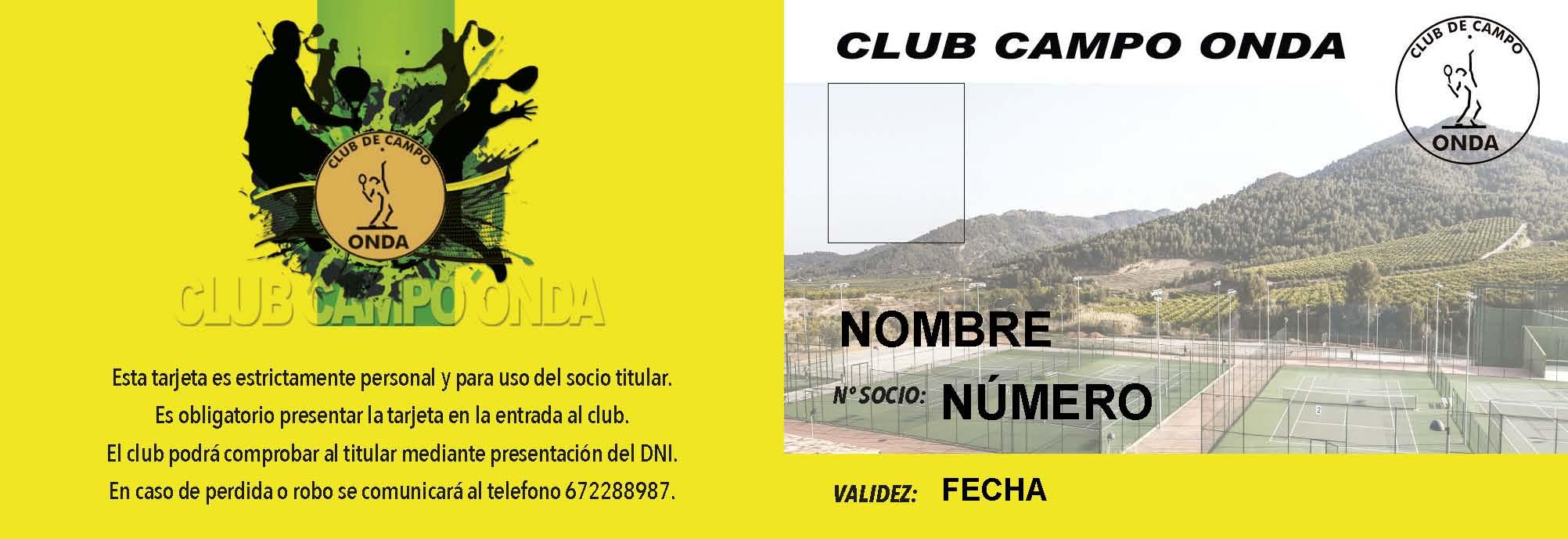 Tarjeta Entrada Club 4º Trimestre