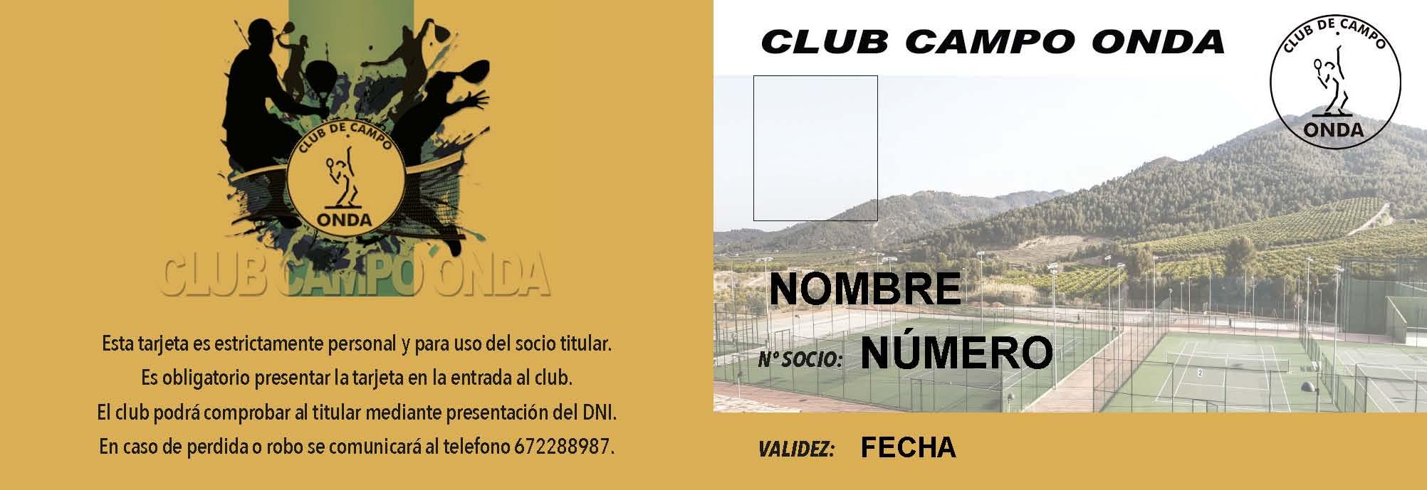 Tarjeta Oro entrada Club Anual