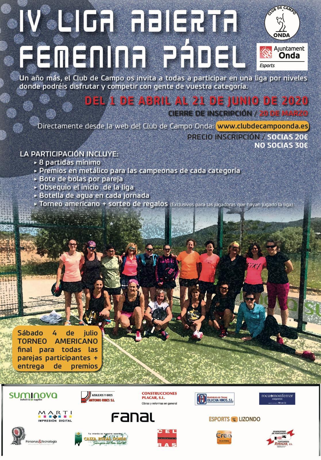 IV liga femenina de padel 2020